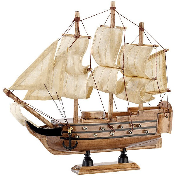 """Schiff-Bausatz """"Flaggschiff"""" aus Holz"""