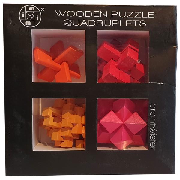 Wooden Puzzle Quadruplets Color 2