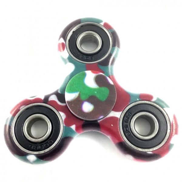 "Fidget Spinner bedruckt: ""Camouflage rot/braun/grün"""