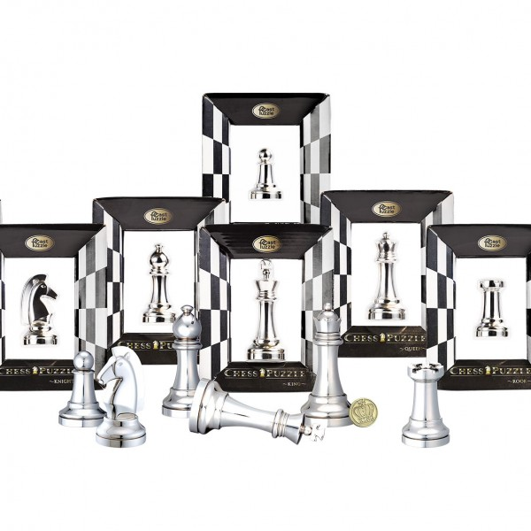 Cast Chess Silver Edition (alle 6 Puzzle)