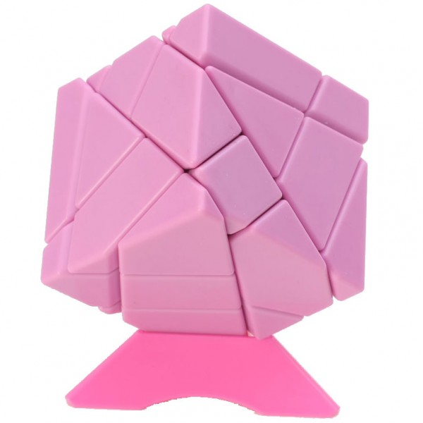 Ninja 3x3 Ghost Cube pink (unstickered)