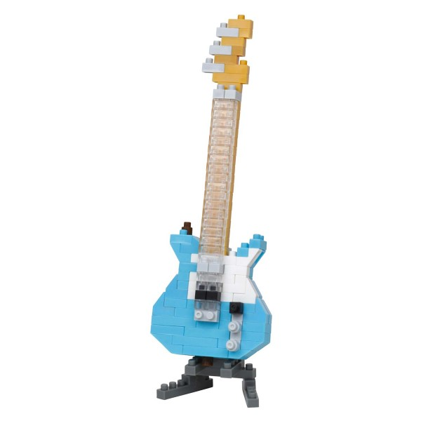 Nanoblock: Electric Guitar Pastel Blue