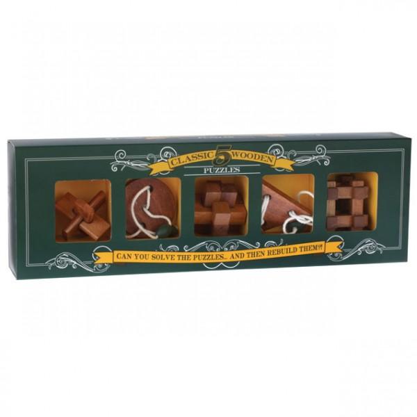 Professor Puzzle 5 Classic Wooden Puzzles