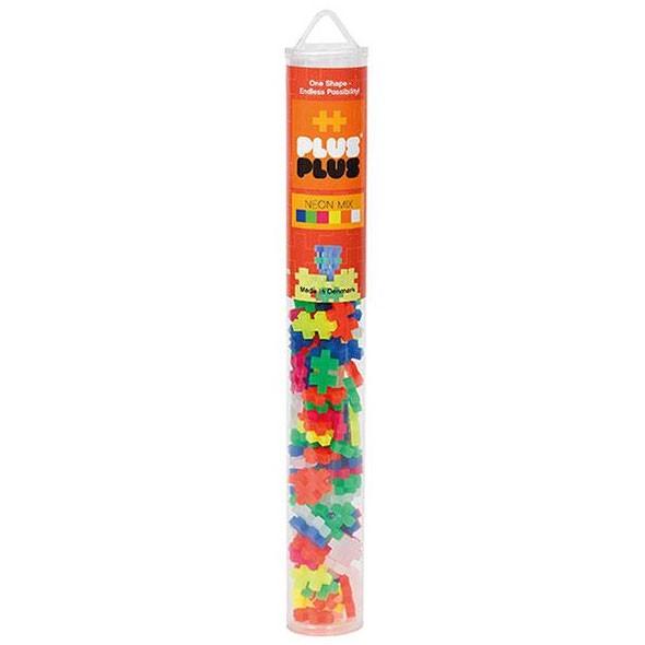 Plus-Plus Tube Mini Neon Mix - 100 Bausteine