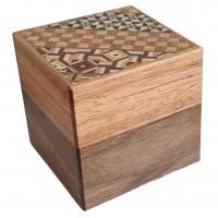 Himitsu Bako 3 Sun Cube 14 Steps Yosegi / Natural (Limited)