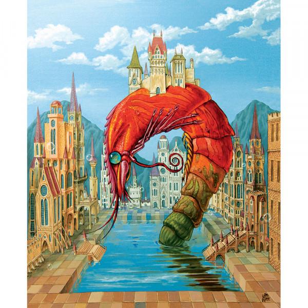 DaVici Puzzle - Rote Garnele