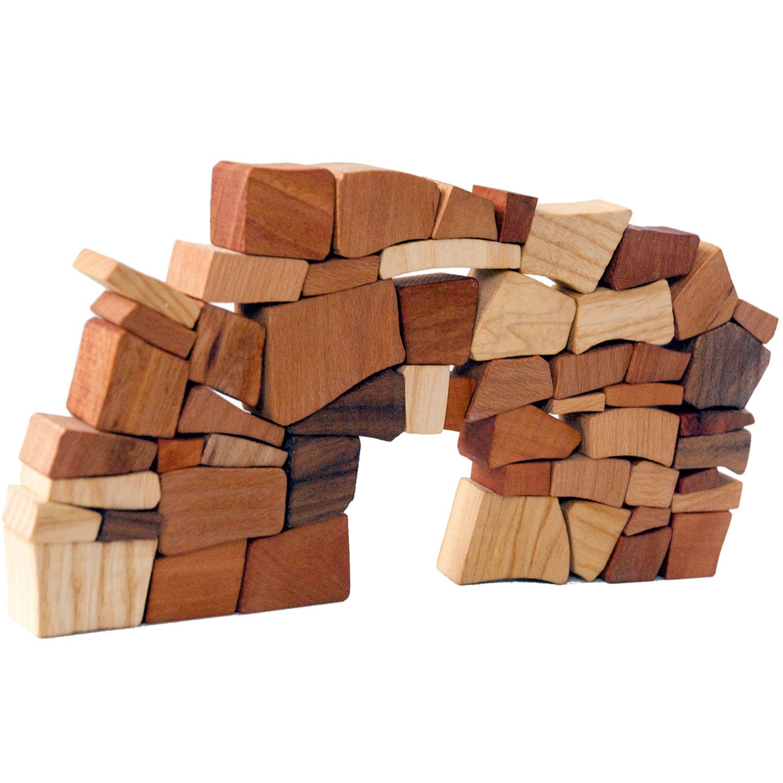 Puzzles & Geduldspiele Fridolin IQ Test Holzpuzzle Vier zu Fünf