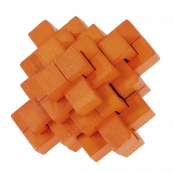 "Farbiges Bambuspuzzle ""Ananas"" orange"