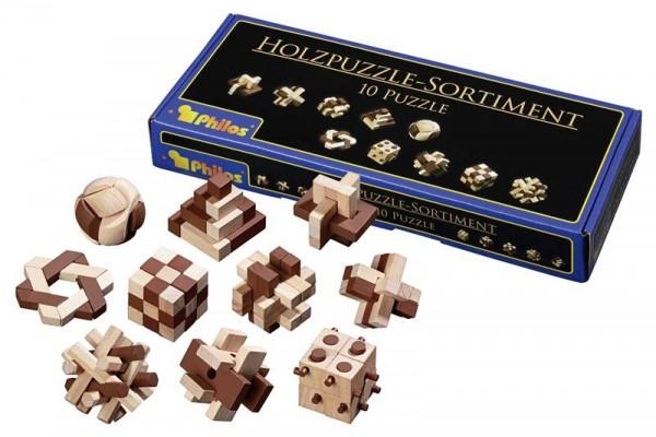 Holzpuzzle-Sortiment 10 Puzzle