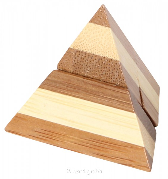 "Kleines Bambus Puzzle ""Pyramid"""