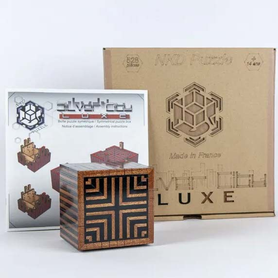 Silver City Luxe Puzzle Box Bausatz Schwarz/Rot