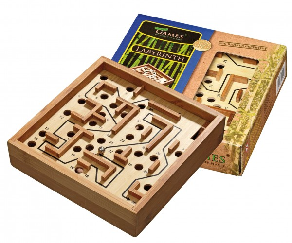 Labyrinth, klein (16,5x16,5cm) , Bambus