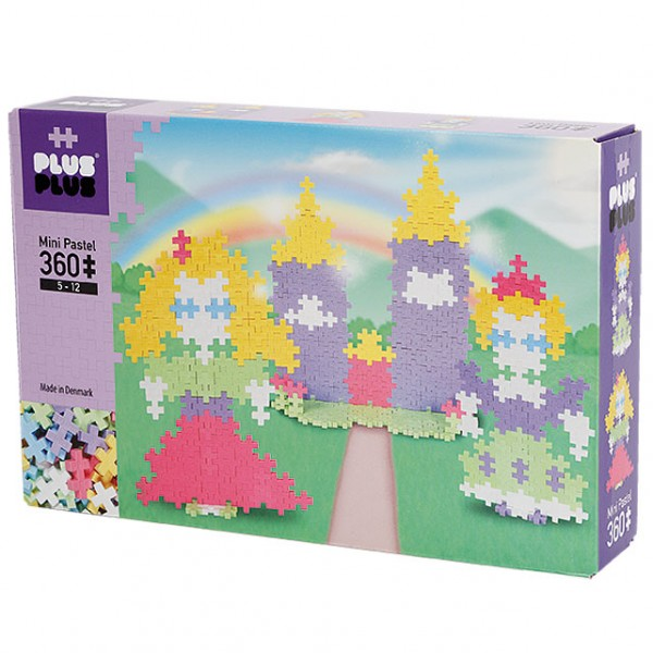 Plus-Plus Mini Pastel: Castle - 360 Bausteine