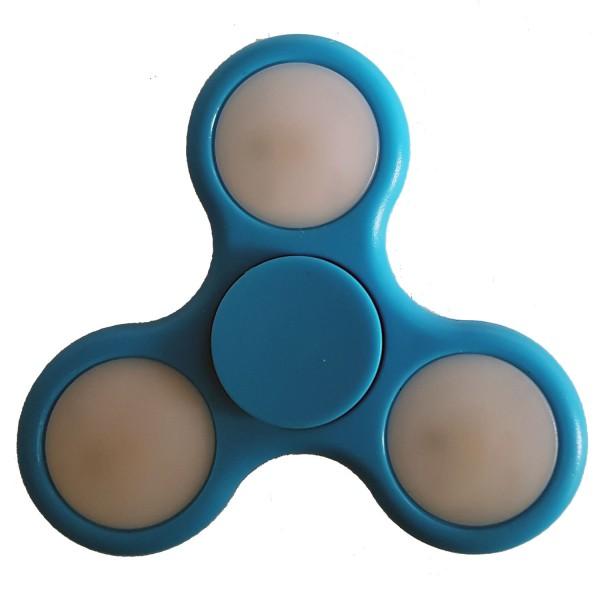 LED Fidget Spinner Blau