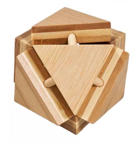 "Bambuspuzzle ""Magische Dreiecksbox"""