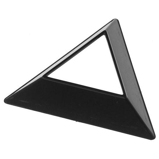Dreieckiger Sockel für Cubes schwarz