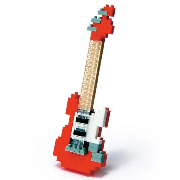 Nanoblock: Electric Guitar Red