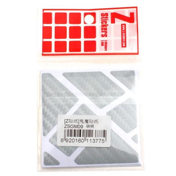 Z-Stickers für Ghost Cube silber (Carbon Fiber)