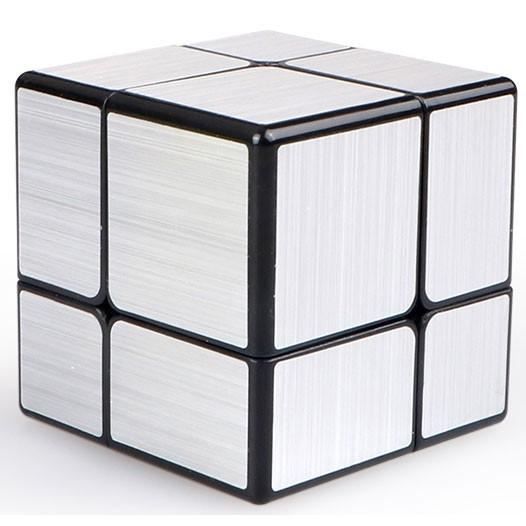 QiYi 2x2x2 Brushed Mirror Magic Cube Silber
