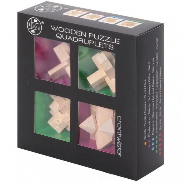 Wooden Puzzle Quadruplets