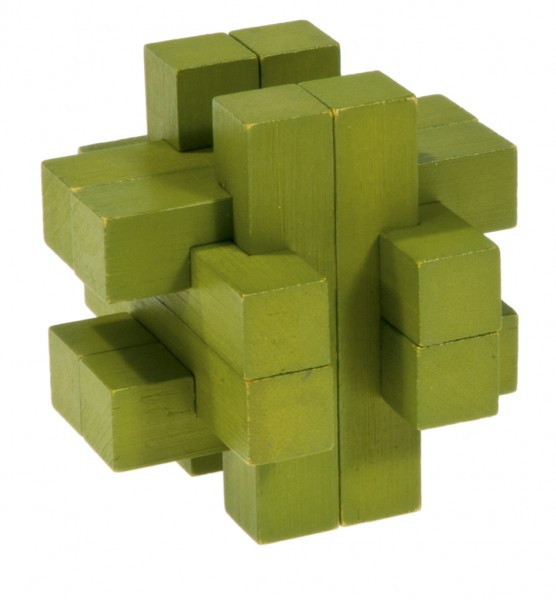 "Farbiges Bambuspuzzle ""Balken Konstrukt"" grün"