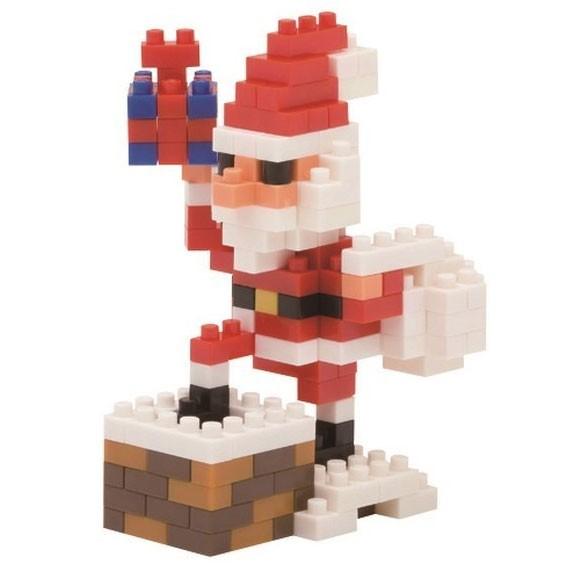 Nanoblock: Santa Claus auf dem Kamin