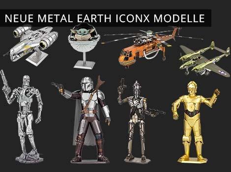 Neue Metal Earth ICONX Modelle