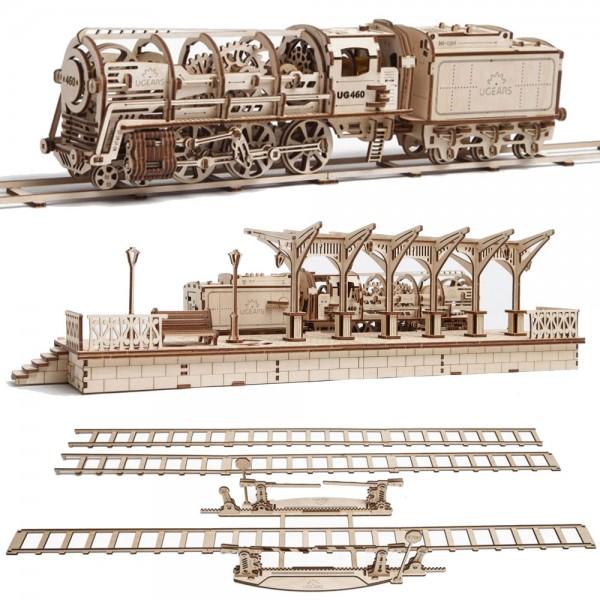 Ugears Eisenbahn Spar-Set