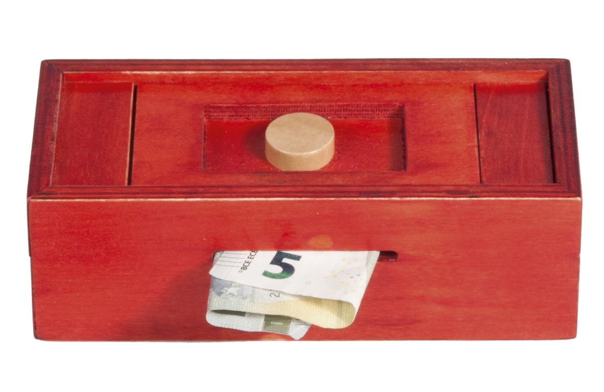 trickbox geldgeschenkbox rot knopf natur ebay. Black Bedroom Furniture Sets. Home Design Ideas
