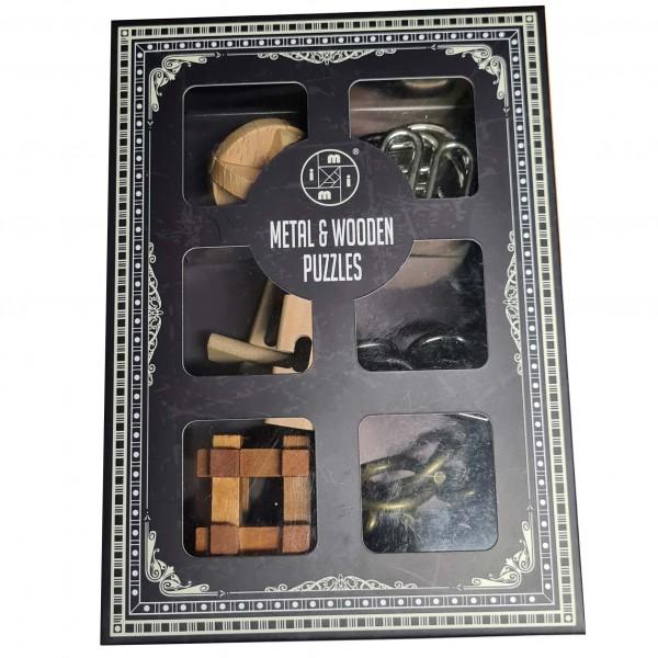 Wooden & Metal Puzzles: Set of Six