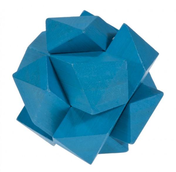 """Farbiges Bambuspuzzle """"Schräger Knoten"""" blau"""
