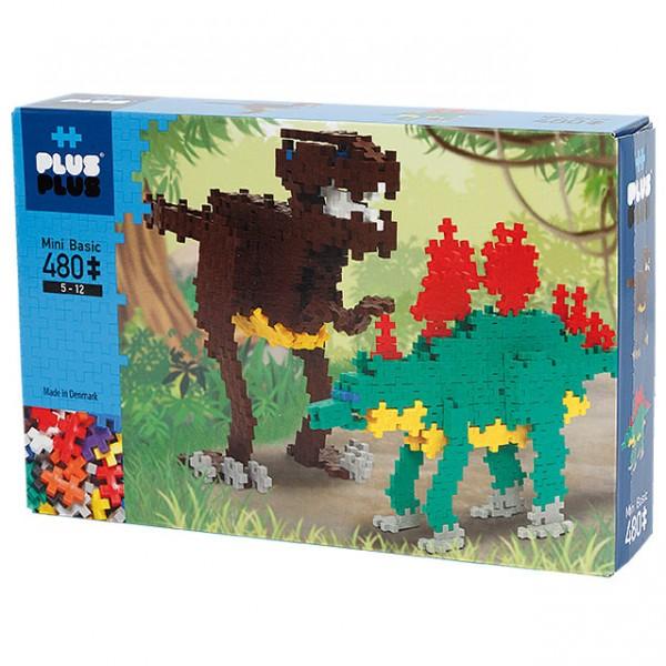 Plus-Plus Mini Basic: Dinosaurier - 480 Bausteine
