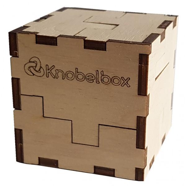 "Eco Wood Art: 3D Cube Puzzle ""Knobelbox"""