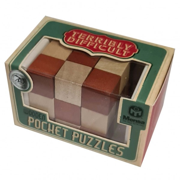 Wooden Pocket Puzzle: Cube