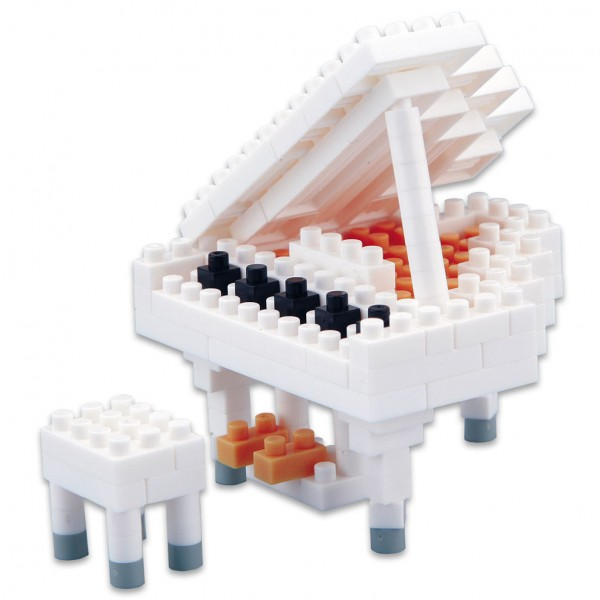 Nanoblock: Grand Piano weiss