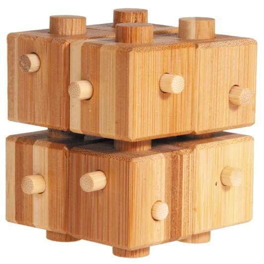 """Bambuspuzzle """"Würfel mit Stäben"""""""