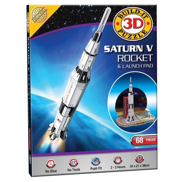 Cheatwell Build-It 3D: Saturn V Space Rocket