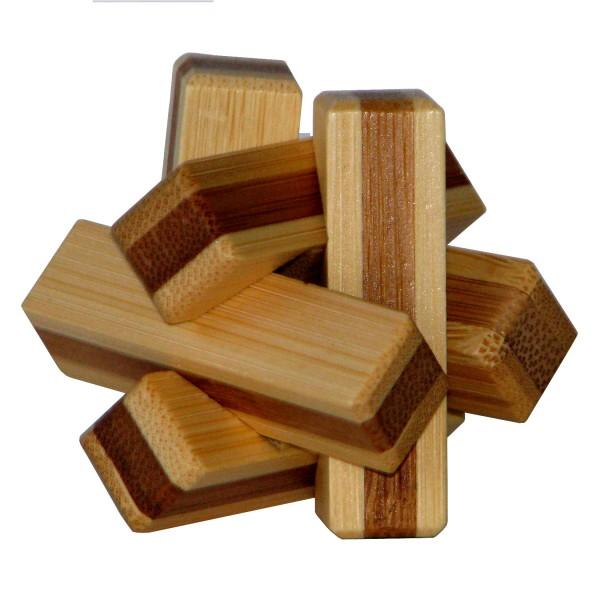 """Kleines Bambus Puzzle """"Firewood"""""""