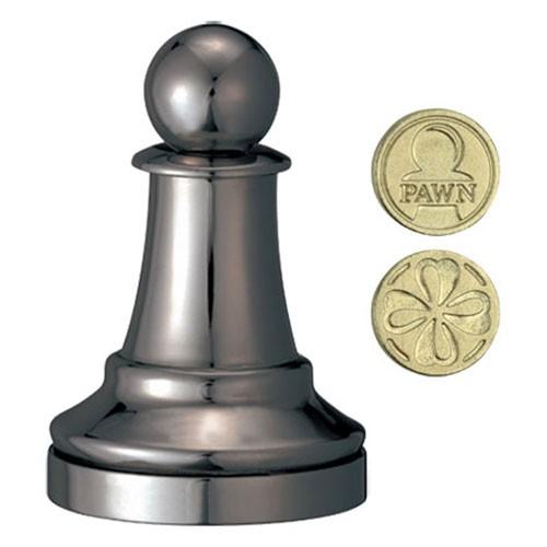 Cast Chess Black Pawn (Bauer)