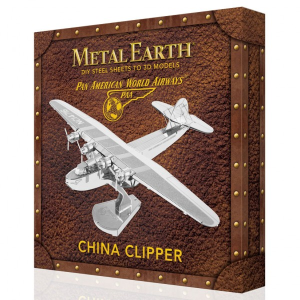 Metal Earth: Pan Am China Clipper in Geschenkbox mit Poster