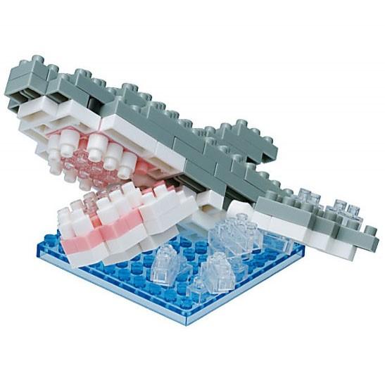 Nanoblock: Weißer Hai Splash