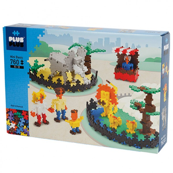 Plus-Plus Mini Basic: Zoo - 760 Bausteine