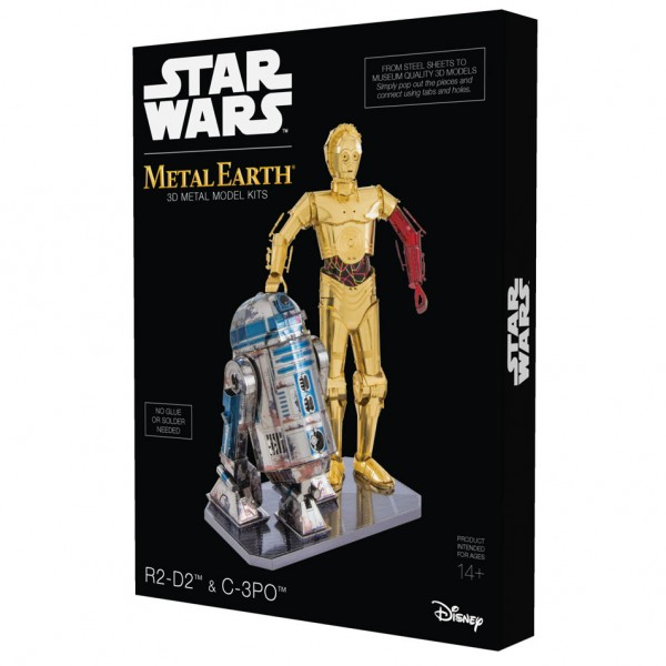 Metal Earth: STAR WARS Set C-3PO + R2D2 in Geschenkbox