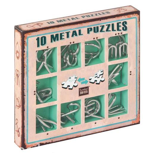 """10 Metallpuzzle im Set """"grün"""""""