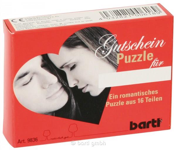 """Gutscheinpuzzle """"I love you"""""""