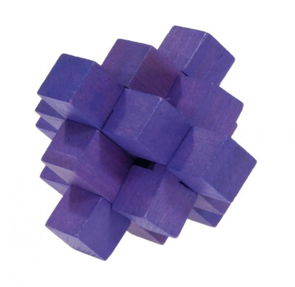 "Farbiges Bambuspuzzle ""Blockpuzzle"" violett"