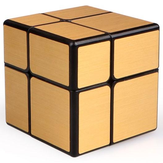 QiYi 2x2x2 Brushed Mirror Magic Cube Gold