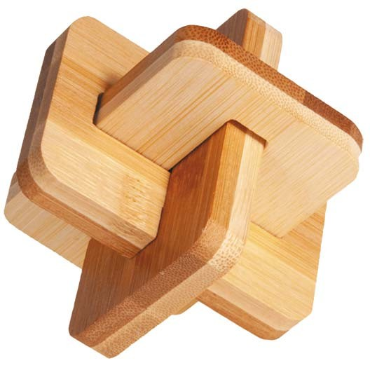 """Bambuspuzzle """"Kniffel-Kreuz"""""""