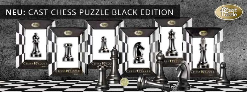 Cast Chess Puzzle Black Edition