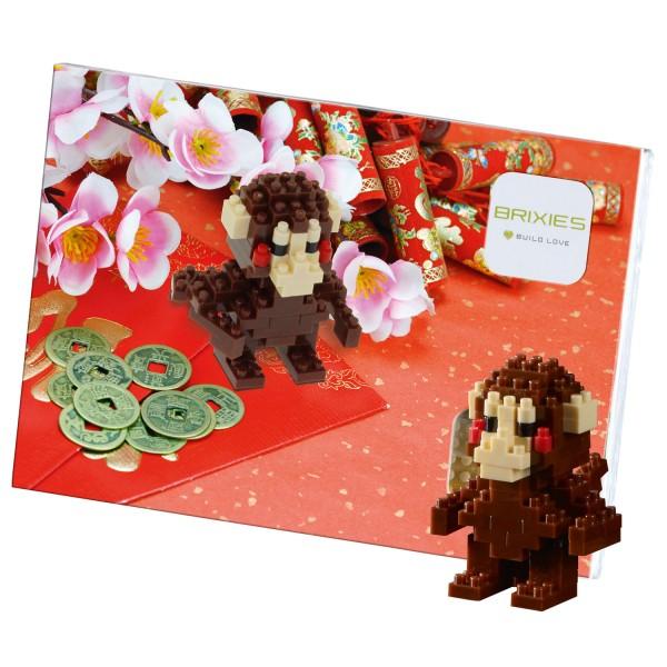 Brixies Postkarte Chinesischer Affe